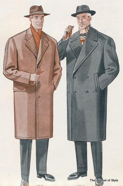 Generously Cut Overcoats from the 1950s