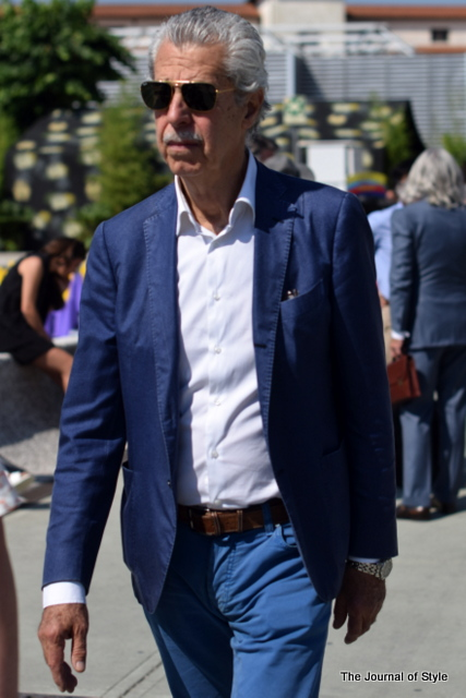 Old-mens-style-blue-blazer-french-blue-trousers-Pitti-Uomo-The-Journal-of-Style