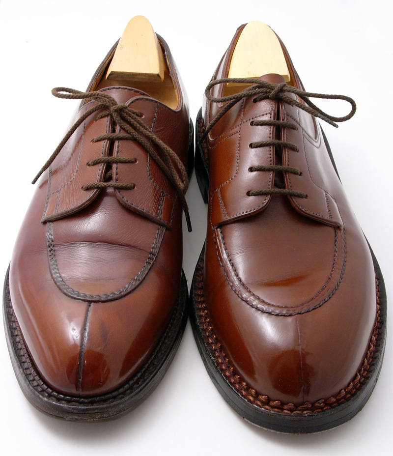 split-toe j_m_weston_chasse_demi_chasse-brown_shoes_comparison