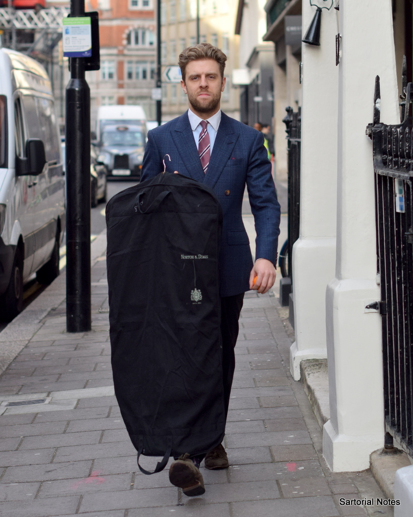 Cutter Nicolas Hammond on Savile Row