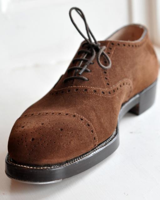 John Lobb Shoes >> Bespoke John Lobb shoes in napped nubuck