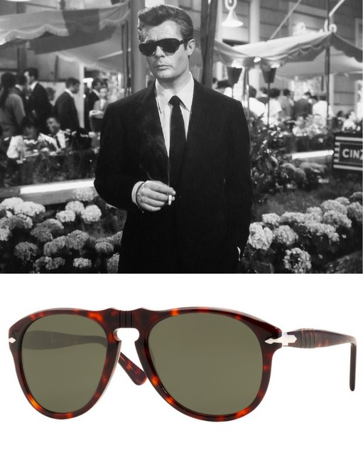 52043d8c2e0f Many men who favour classic style have a soft spot for Persol sunglasses.  The refined tortoise shell frame and the dark lenses go well with suit and  tie.