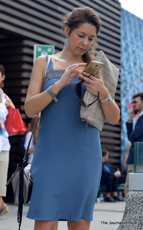 Pitti-Uomo-woman-blue-dress-The-Journal-of-Style-6