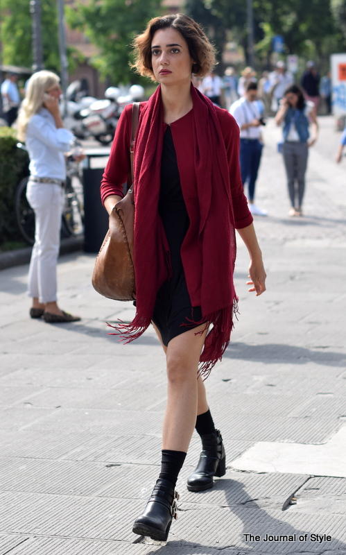 Pitti-Uomo-woman-red-black-dress-The-Journal-of-Style-7