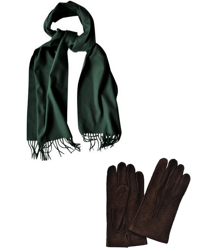 Cashmere-scarf-for-men-and carpincho-gloves-The-Journal-of-Style