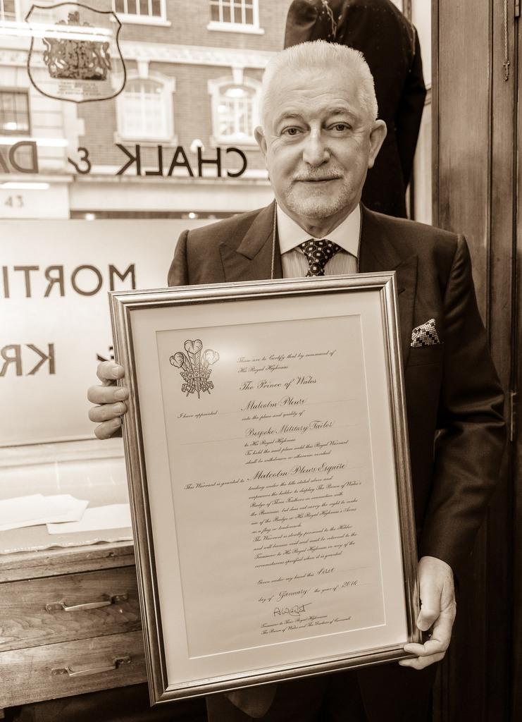 Malcolm Plews and Royal Warrant