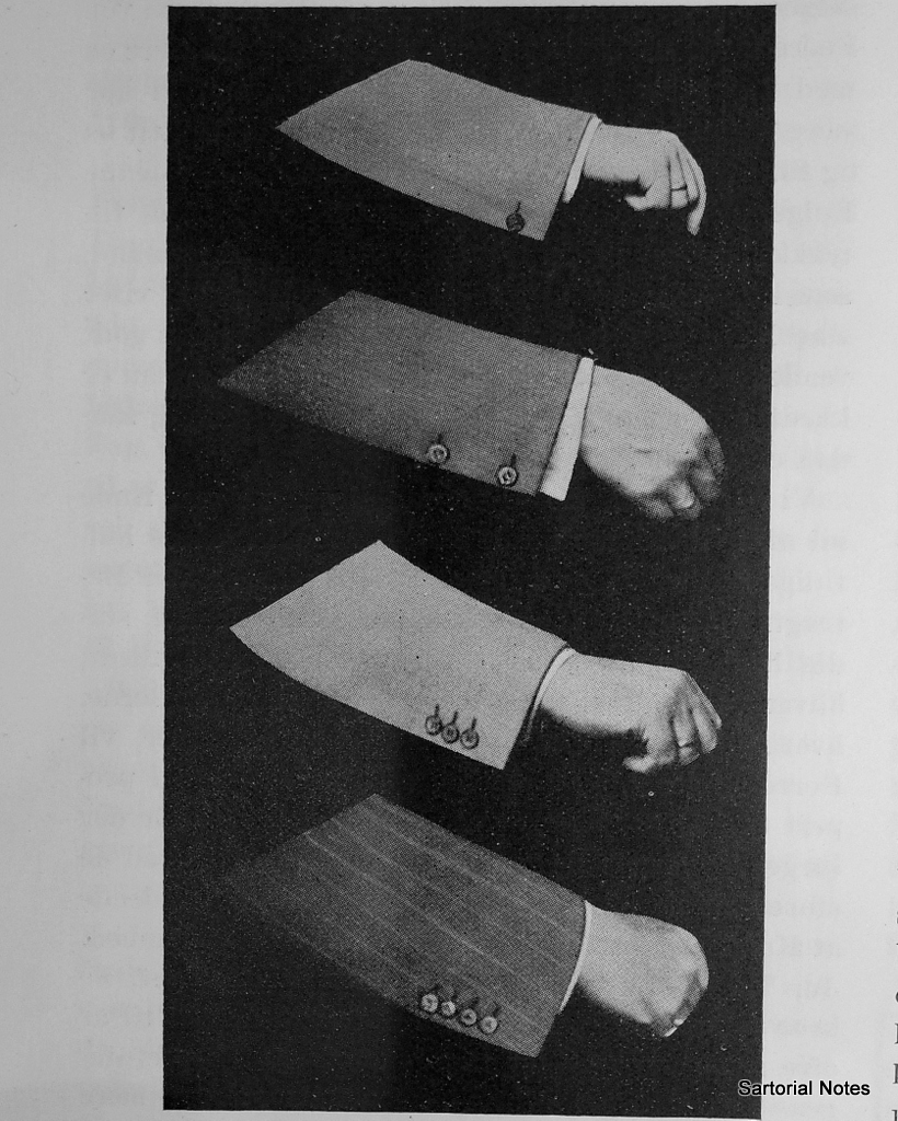Suit details at cuffs