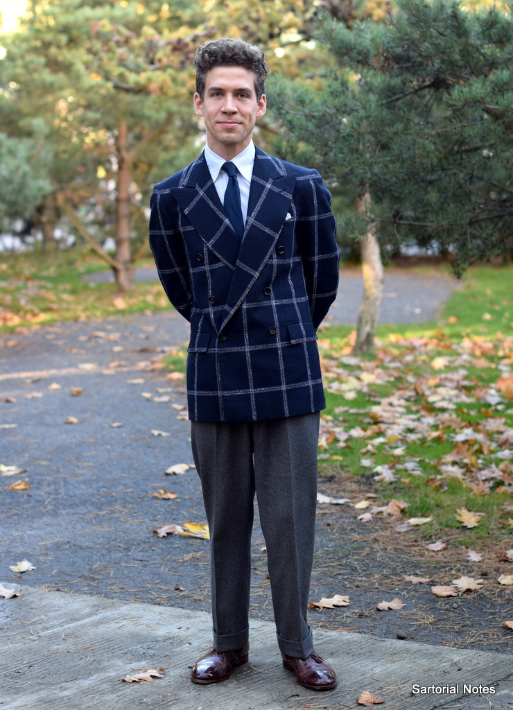 Jeppe in Bespoke Double Breasted Jacket and Grey Flannel Trousers -