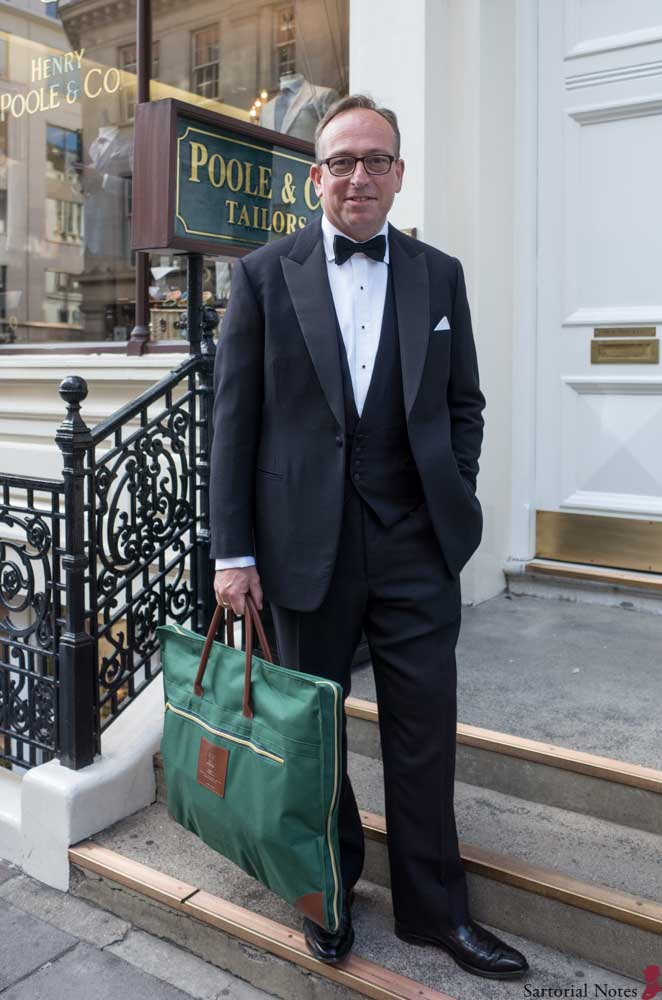 Street Photos of Men in Savile Row Bespoke Suits -