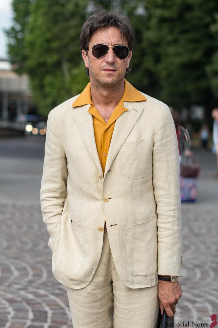 Pitti Uomo 96 linen suit